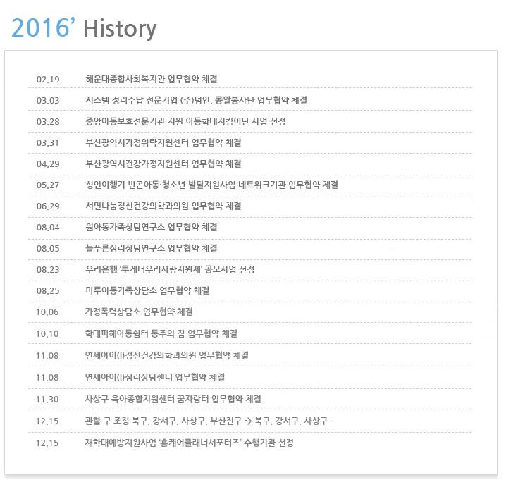 부산동부·서부아동보호전문기관 연혁